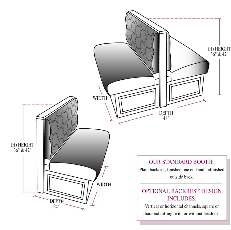 Banquette Seat Height: Indoor Bench Booth Seating From Jay's Furniture Products