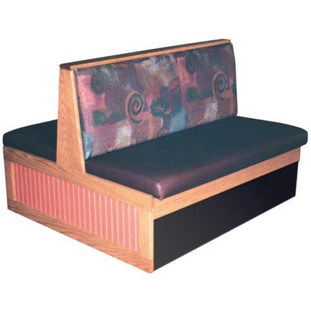Booths With Upholstered Backrest