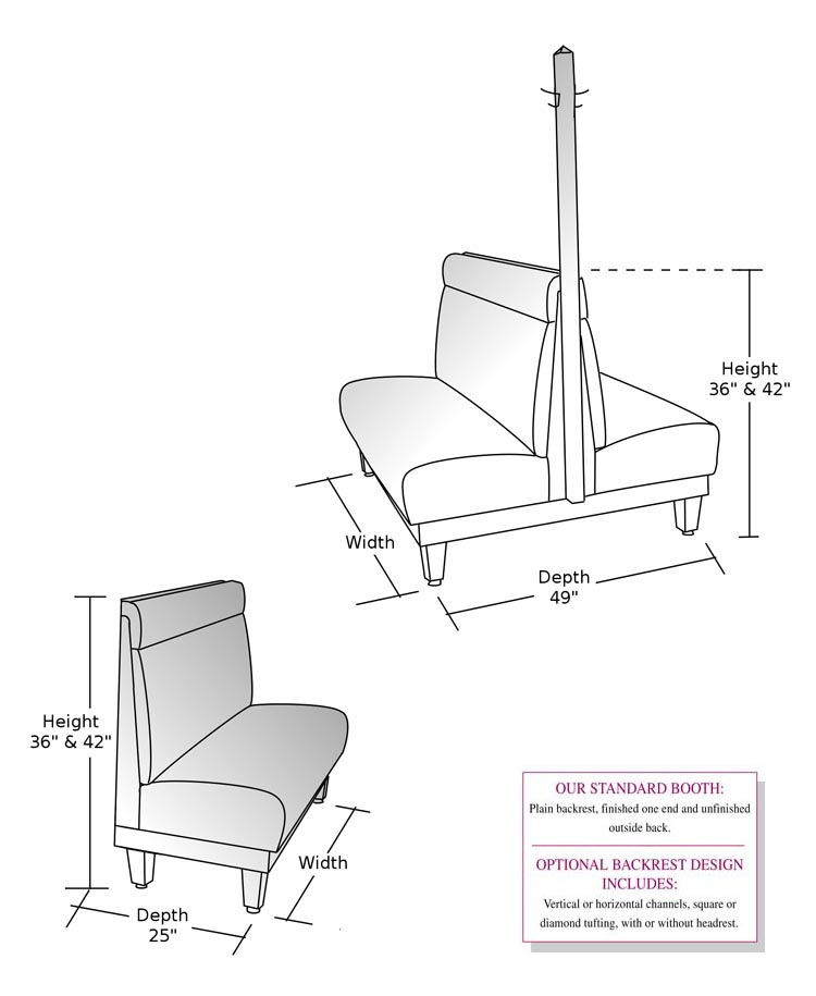 Rendering Of Booth With Coat Hanger