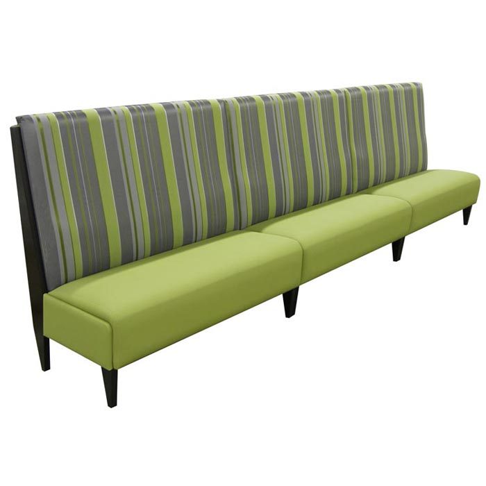 Banquette Padded Bench With High Back