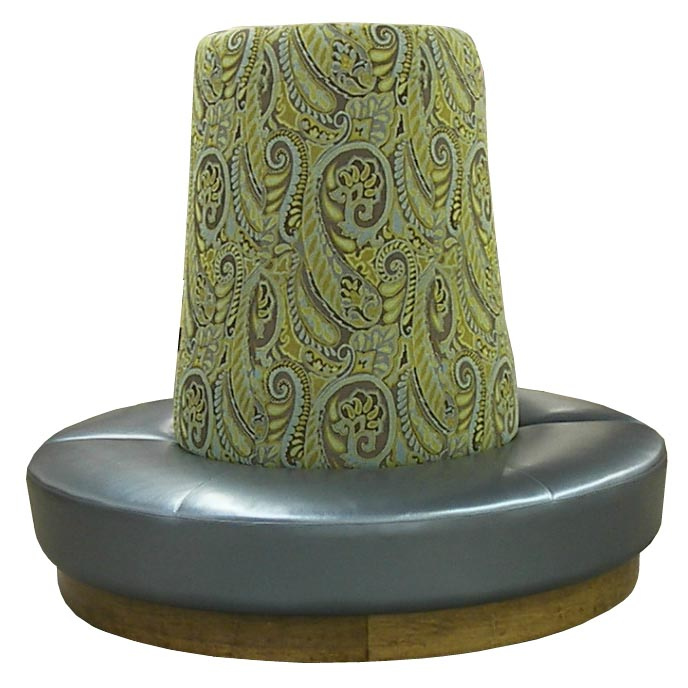Pouffe, a cushioned footstool